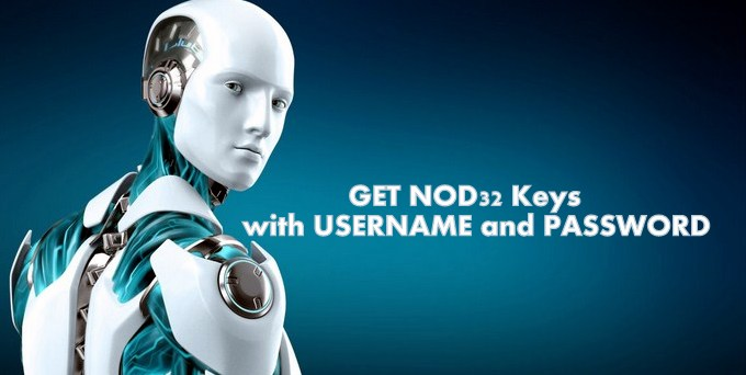 NOD32 key username password