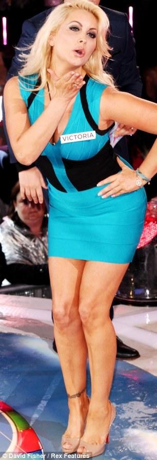 TV star: Victoria Eisermann strikes a pose during her brief stint in Big Brother 2012