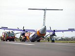 The Flybe aircraft carrying 52 passengers and four crew carried out an emergency landing in Belfast International Airport after its landing gear failed to deploy when the aircraft attempted to land