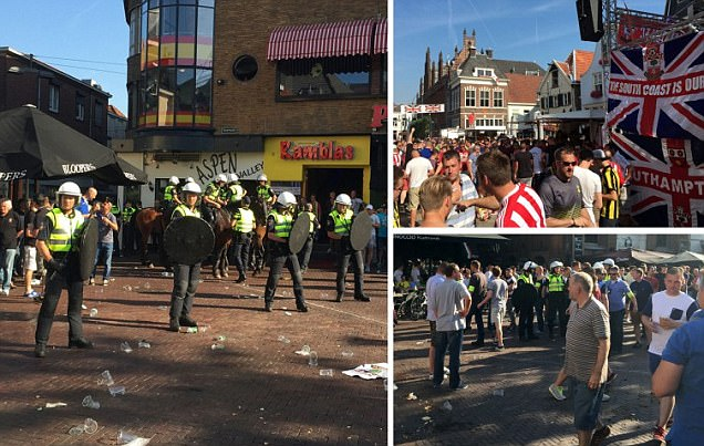 Southampton fans arrested after violence breaks out in Arnhem city centre before Europa