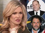 Tearful sit down: Natasha Henstridge (above on Megyn Kelly Today) gave her first interview about the night she claims Brett Ratner forced her into oral sex when she was just 19