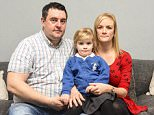 Jo and Billy Martin (pictured), of Chorley, Lancashire, were sent a letter with the 'sexist remarks' two weeks after Mr Martin took their three-year-old daughter Jessica (pictured) for an appointment at Royal Preston Hospital