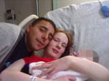 Anthony Clark, 35, and Catherine Davies, 25,are accused of murdering their baby after they failed to feed or clothe him before burying him naked in a shoe box in a shallow grave (pictured: with their first baby who was taken into care)