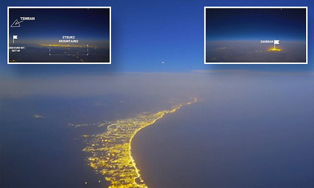Air France pilot captures Iran in timelapse video