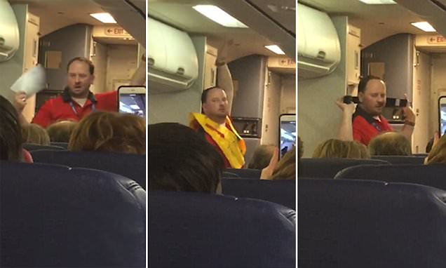 Southwest Airlines steward gives 'sexy' safety briefing