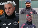 Manchester United boss Jose Mourinho has confirmed key players will return this weekend