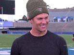 Tom Brady (pictured above) revealed to a reporter that it's easier being on the road as 'there's nobody telling me what I did wrong in the house'
