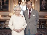 Dignified and affectionate: One of the official platinum wedding anniversary portraits of the Queen and Prince Philip