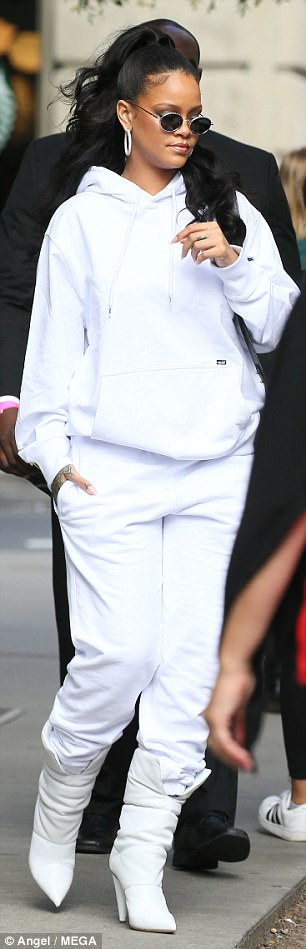 Costume change!Meanwhile, Rihanna was also spotted in a second outfit of the day