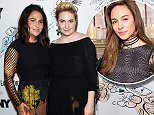 Rose McGowan blasted Lena Dunham (right) and her co-show runner Jenni Kiner (left) for 'slut-shaming' after they came to the defense of a 'Girls' writer who is accused of raping a 17-year-old girl in 2012