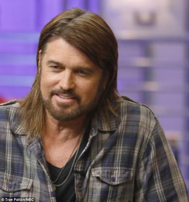 Country star: Billy Ray was recruited by Miley to be her special advisor during the Knockout Rounds