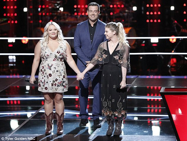 The winner: The Voice host Carson Daly looked on as Ashland was named the winner