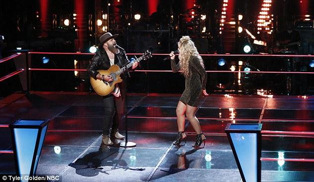 Spirited rendition: Adam Cunningham and Natalie Stovall performed Boondocks