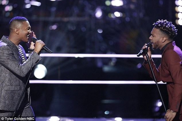 Tough battle: Eric and Ignatious electrified the audience with their performance