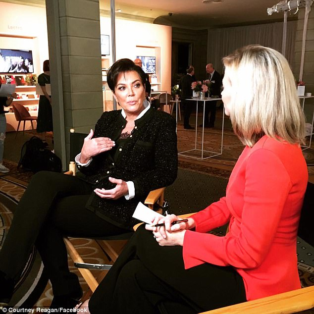 She said it: Kris Jenner, seen here in NYC on Tuesday with Courtney Reagan, told ET that she is 'over the moon' for daughter Khloe Kardashian