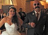 Soap star Paula Williamson married notorious prisoner Charles Bronson in front of just four people (Pictured, Ms Williamson at the reception with her new husband's lookalike)