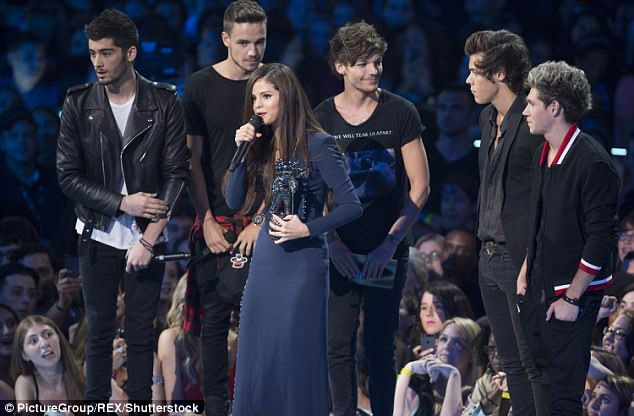 Back in the day: Selena Gomez with Niall's band One Direction at the MTV Video Music Awards Show in 2013