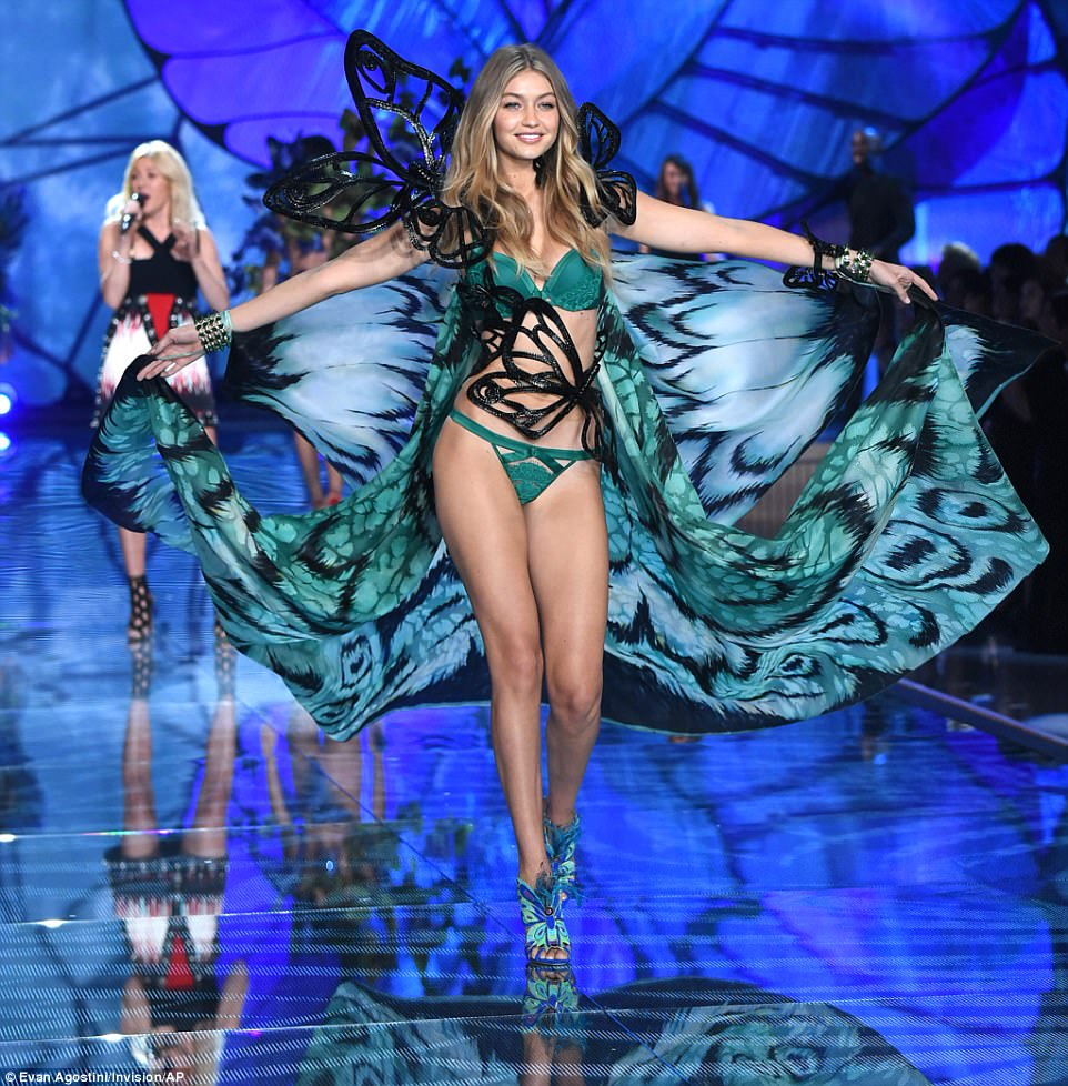 Dazzling display: Over 50 scantily-clad models are expected to take to the runway for this year's extravaganza - includingIrina Sharipova and Victoria Lee, while Candice Swanepoel and Behati Prinsloo are expected to return following their maternity leave