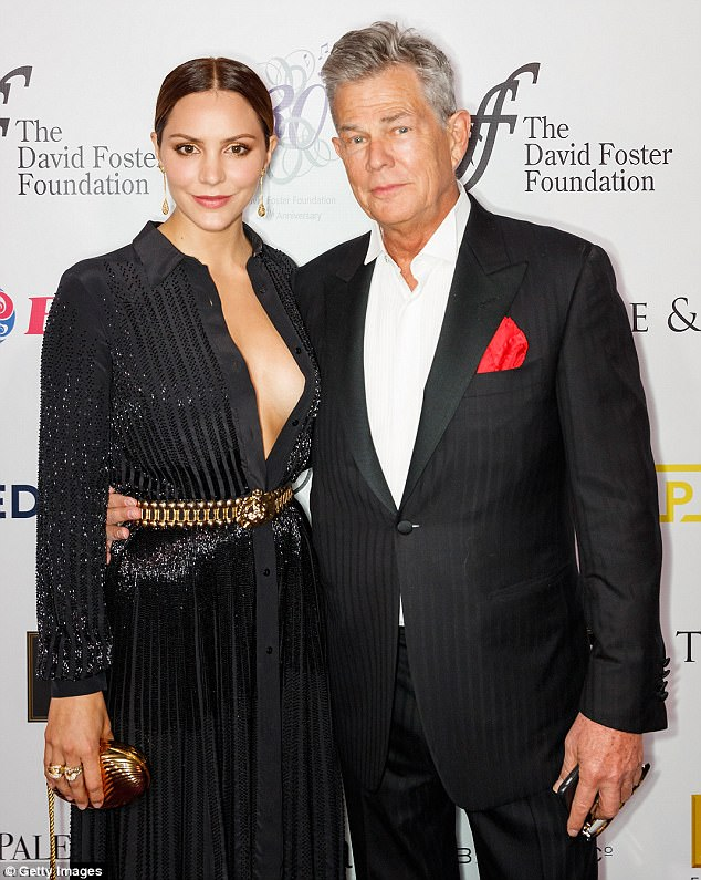 Strike a pose:They were undeniable close at his David Foster 30th Anniversary Miracle Gala and Concert; pictured on Saturday in Vancouver, Canada at the gala
