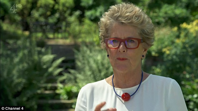 Oops! Prue Leith, 77, found her statement necklace hilariously mistaken for a sex toy on Tuesday night's semi-final episode of Great British Bake Off