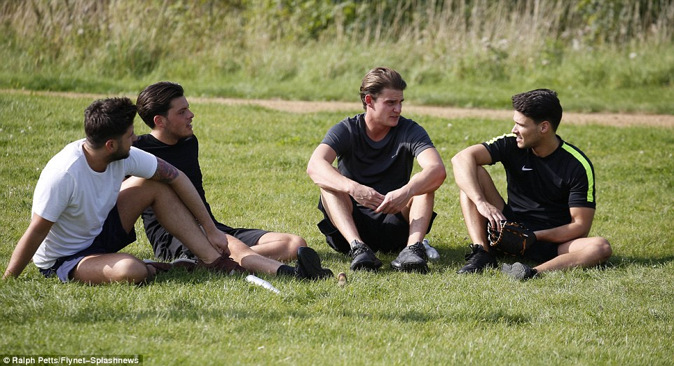 The boys are back in town! Jack Rigden, Jordan Brooks, Taylor Barnett and Myles Barnett were spotted catching up