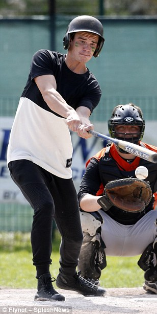 Hit it out of the park: A number of the TOWIE cast mates tried their hand at the All-American game
