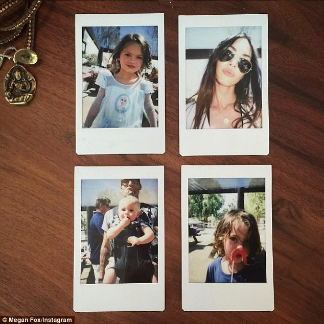 Happy family:Brian and Megan have three children together, four-year-old Noah, three-year-old Bodhi and 13-month-old Journey