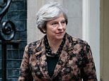 The Prime Minister in Downing Street today ahead of the Cabinet sub-committee meet