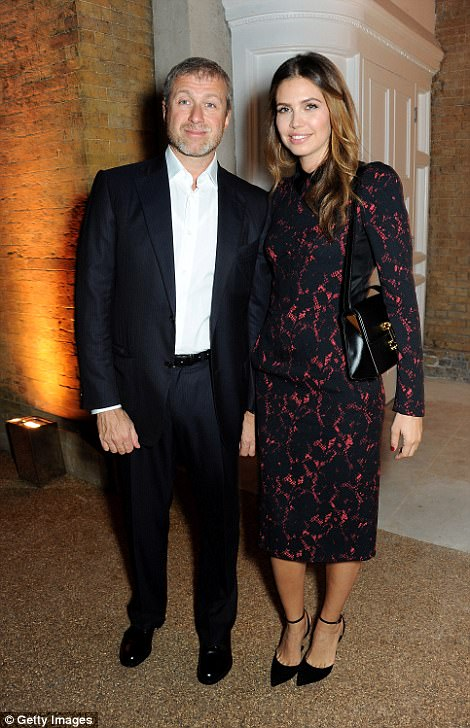 Moving on: Russian billionaire Roman Abramovich, 50, and his wife Dasha, 36, announced their separation on Monday