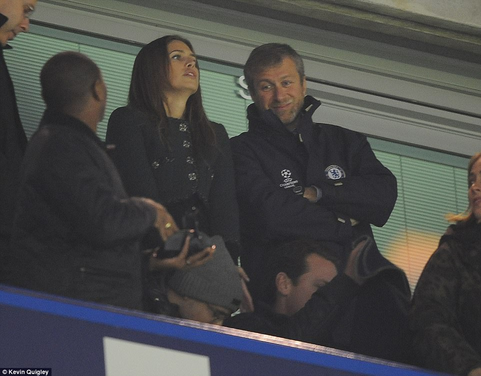 Secret wedding: The Chelsea FC owner and main owner of private investment firm Millhouse LLC, Abramovich, married Dasha in 2008 at a private ceremony. They are pictured together in happier times in 2014