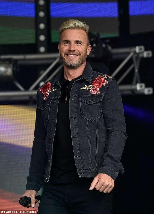 Greatest Day: Gary Barlow also made an appearance at Manchester Pride where he performed as part of Take That