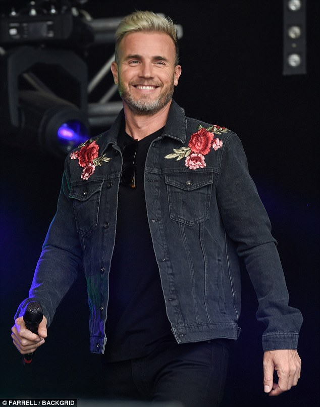 Rosy cheeked! Gary looked very dapper when he threw on a dark denim jacket which brightened up his appearance with colourful rose embroidery