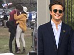 The mystery man Malia Obama, 19, was spotted locking lips with on Saturday at a Harvard-Yale tailgate was Rory Farquharson, 19, (pictured) DailyMail.com can exclusively reveal