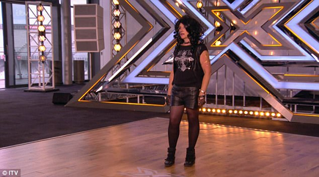 Costume change:Susie, who mysteriously brought a bag with her to the audition, agreed - but only if she could change her costume. The shocked judges waited for five minutes while Susie changed into her Joan Jett costume - but she sadly failed to impress the judges