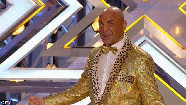 Glittering:Simon Gross was also a memorable act. He donned a glittering gold suit to belt out Robbie Williams' Let Me Entertain You