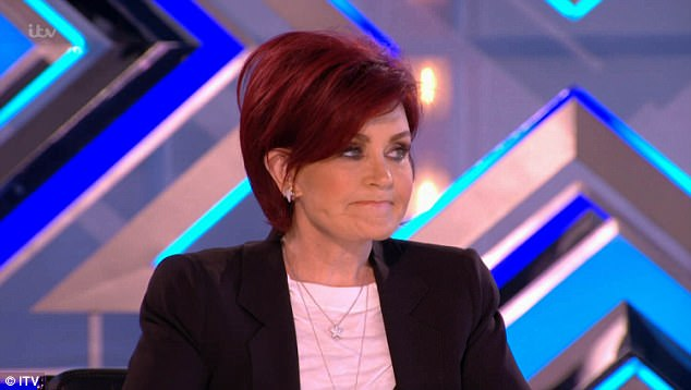 Awkward:The duo performed their own rendition of Everybody by Backstreet Boys - but Sharon Osbourne struggled to contain her laughter