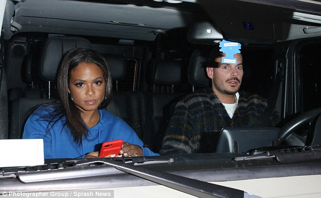 Close:She was spotted heading to dinner with French singer Matt Pokora