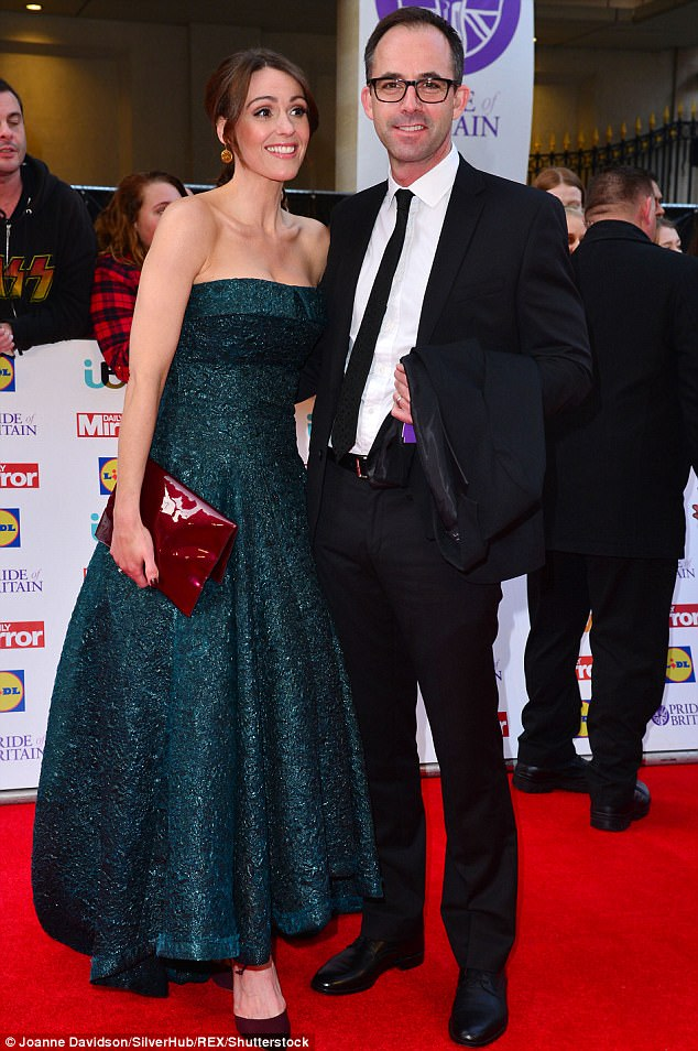Low-key: Since starring on the show, Suranne welcomed a son with husband Laurence Akers, 47, in March last year - and admits she loves leading a normal life with her family