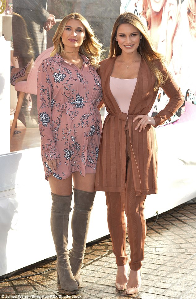 Billie's sister Sam Faiers (right) has just has her second child, a girl, with Paul Knightley