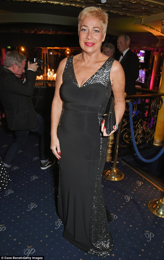 Wow factor:The former Coronation Street actress, 59, looked impossibly chic in a figure-hugging LBD, which showed off her curves and and her ample cleavage thanks to the garment's plunging neckline