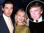 Billy Baldwin (pictured second from left in 1993), 54, blasted Donald Trump (right) on Thursday with an incriminating tweet, accusing him of being inappropriate toward his wife