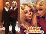 Tiffany Trump (left), the youngest of the commander-in-chief's daughters, and her mother Marla Maples (right) - Trump's second wife - spent Thanksgiving together in New York City