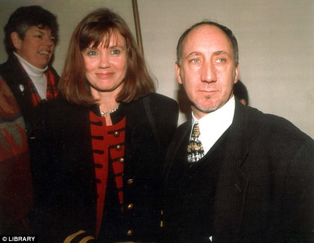 The ex factor: Legendary musician Pete was married to Karen Astley from 1968 to 1994. The exes are pictured together in 1993