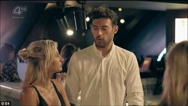 New man? Tiff rocks up late to the dinner and apologises, but she's not actually sorry because she clearly waited with Pablo around the corner by the bins so that she could deliberately make an entrance with him