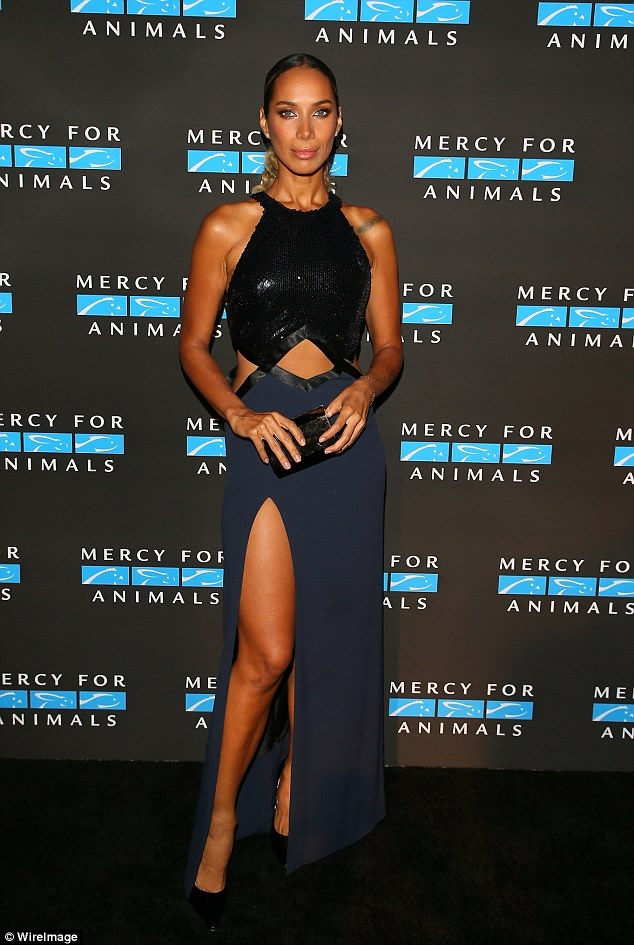 Big change: Leona Lewis was almost unrecognisable as she debuted a dramatically slimmer physique at the Mercy For Animals Annual Hidden Heroes Gala in Los Angeles on Saturday