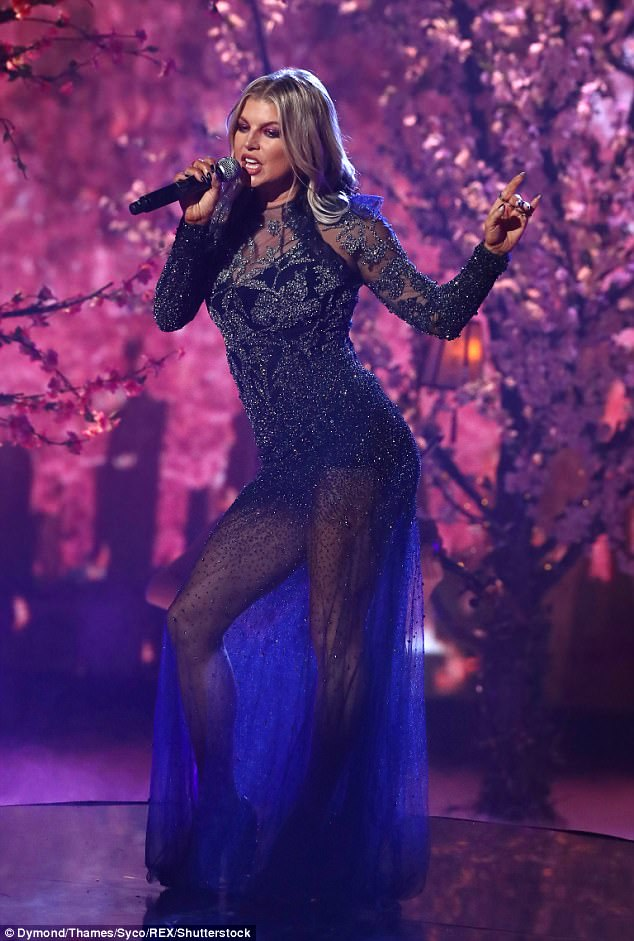 'X Factor was amazing they had me in a beautiful cherry blossom forest,' Fergie revealed of her performance on Sunday