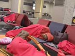 But the cancellations have meant customers were forced to sleep at the airport and face long hours with little information