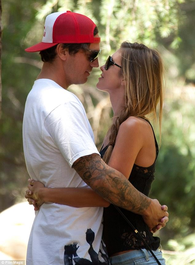 Happier times: Audrina Partridge, pictured here  in Griffith Park, Los Angeles in 2011, has filed for divorce from husband Corey Bohan