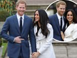 Britain's Prince Harry and his fiancÈe US actress Meghan Markle pose for a photograph in the Sunken Garden at Kensington Palace in west London on November 27, 2017, following the announcement of their engagement.\nBritain's Prince Harry will marry his US actress girlfriend Meghan Markle early next year after the couple became engaged earlier this month, Clarence House announced on Monday. / AFP PHOTO / Daniel LEAL-OLIVASDANIEL LEAL-OLIVAS/AFP/Getty Images