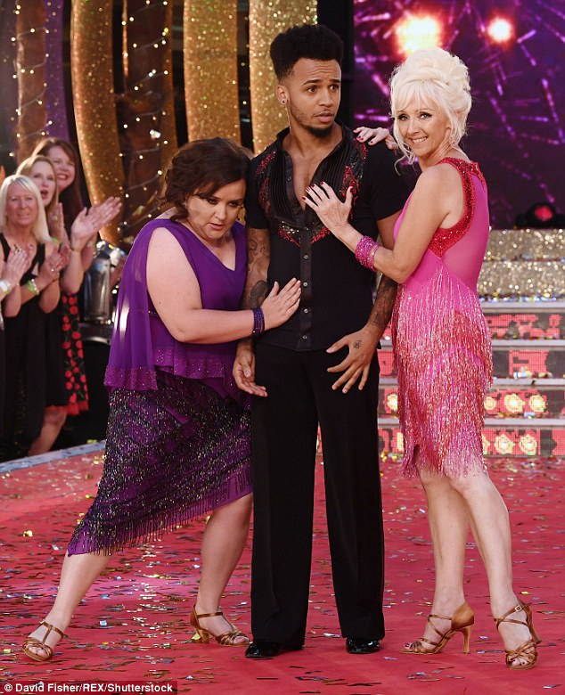 Giving it all she's got! Magician's assistant Debbie McGee proved to be every inch the minx when it was her turn to perform alongside Susan Calman and Aston Merrygold